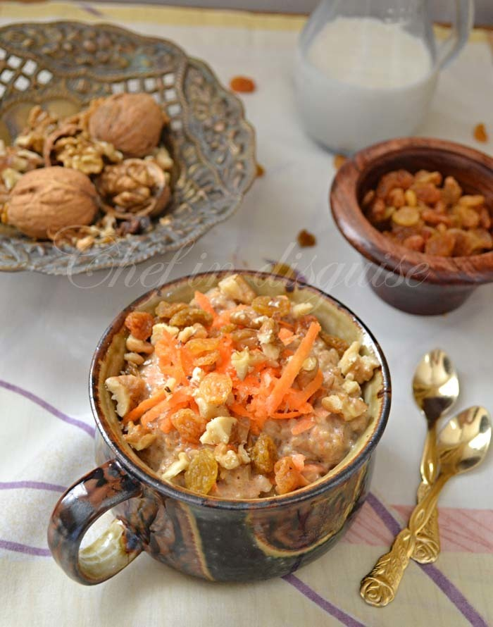 Healthy breakfast idea #1 carrot cake oatmeal