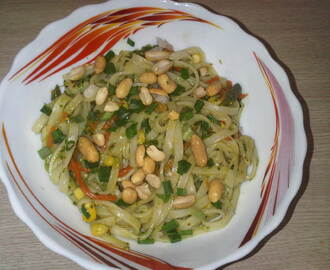Pad Thai in Thai Green Curry