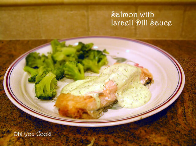 Salmon Fillet with Israeli Dill Sauce