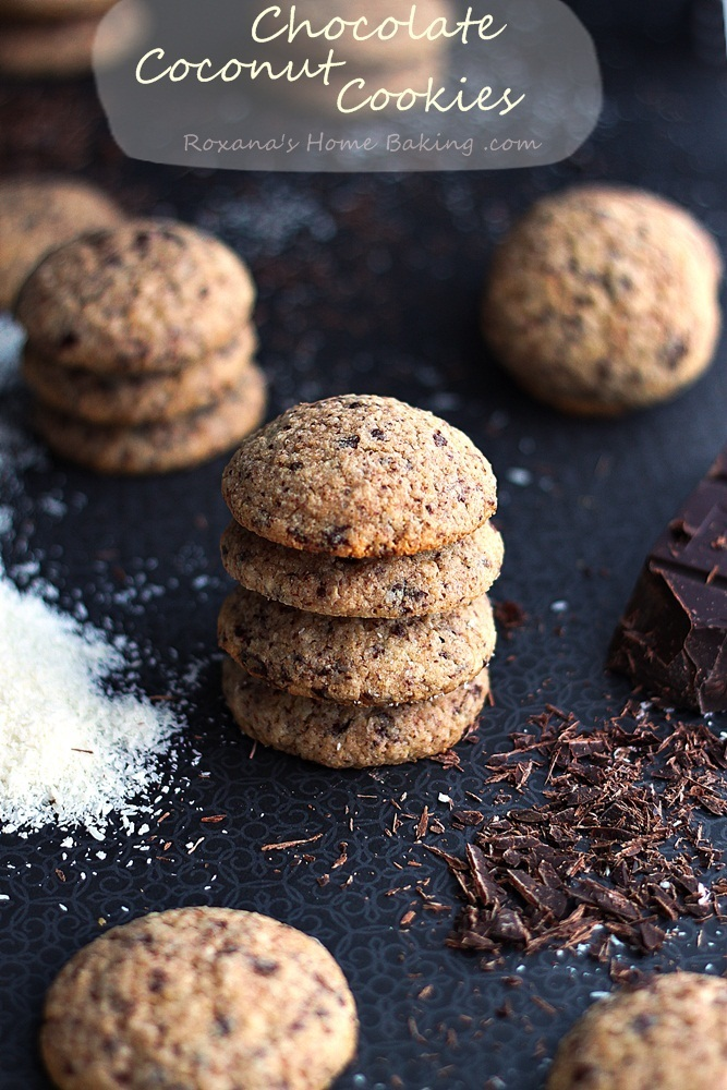Chocolate coconut cookies #chocolateparty