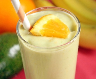 Banana Orange Avocado Smoothie