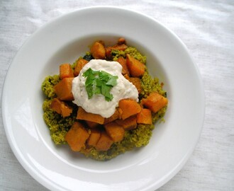Secret Recipe Club: Spicy Sweet Squash and Quinoa Bowl