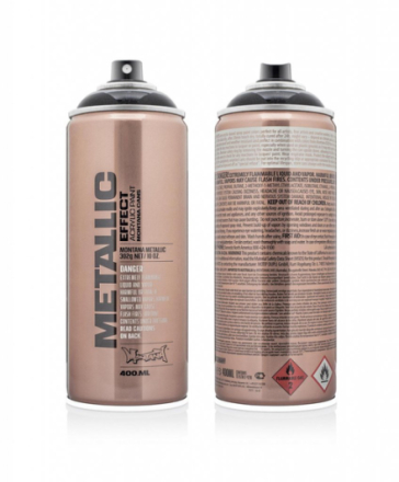 Montana effect sprayfärg - metallic black 400 ml - svart