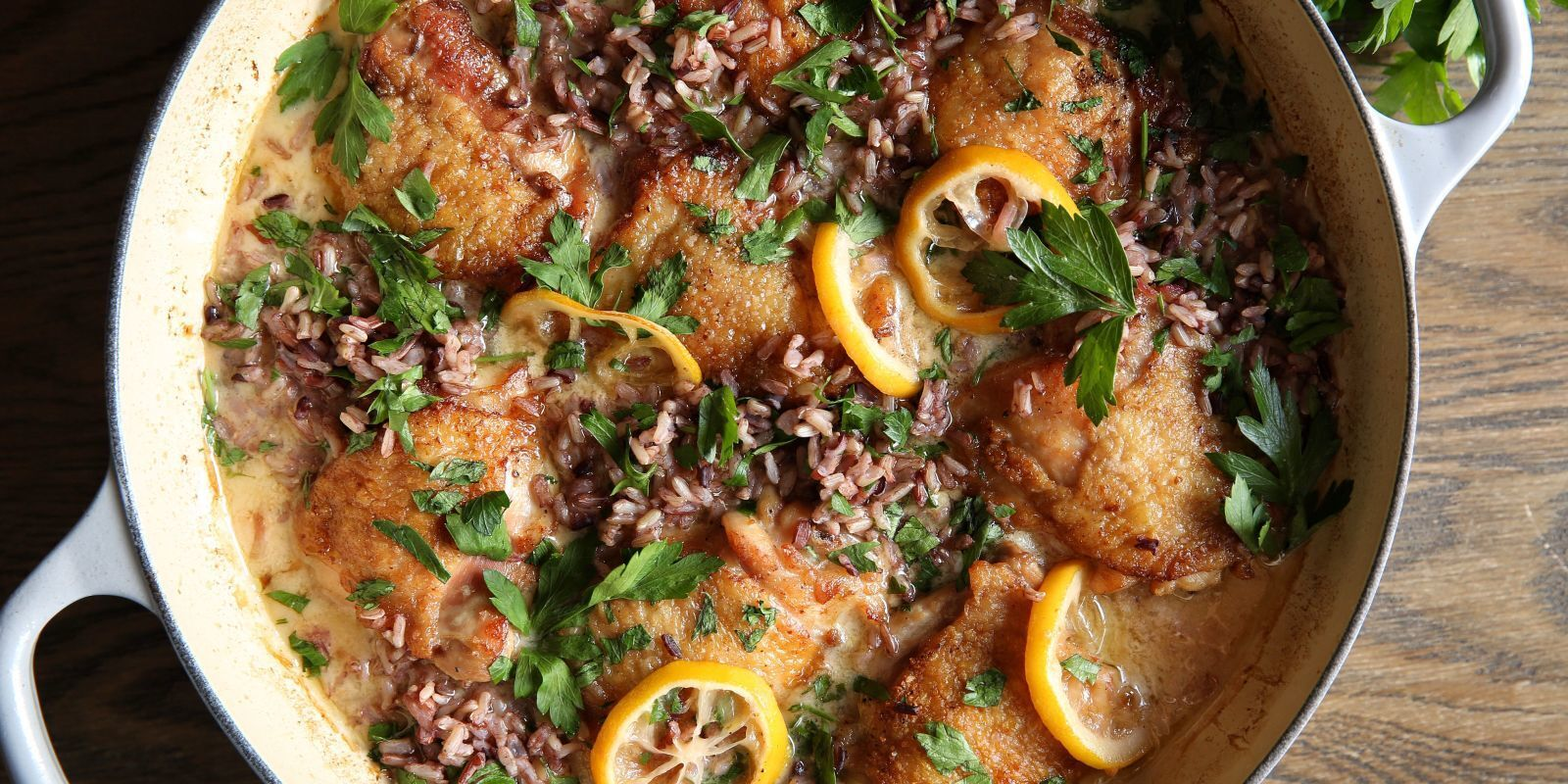 Creamy Lemon Chicken with Wild Rice