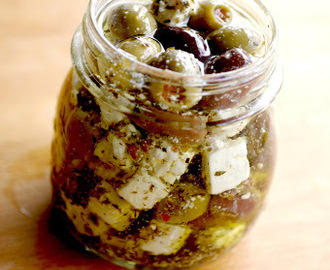 Marinated Olives and Feta