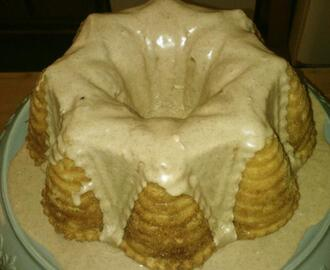 International French Vanilla Brown Cinnamon Swirl Coffee Cake w/ French Vanilla Cinnamon Glaze