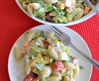 Quick Easy Turkey Club Pasta Salad