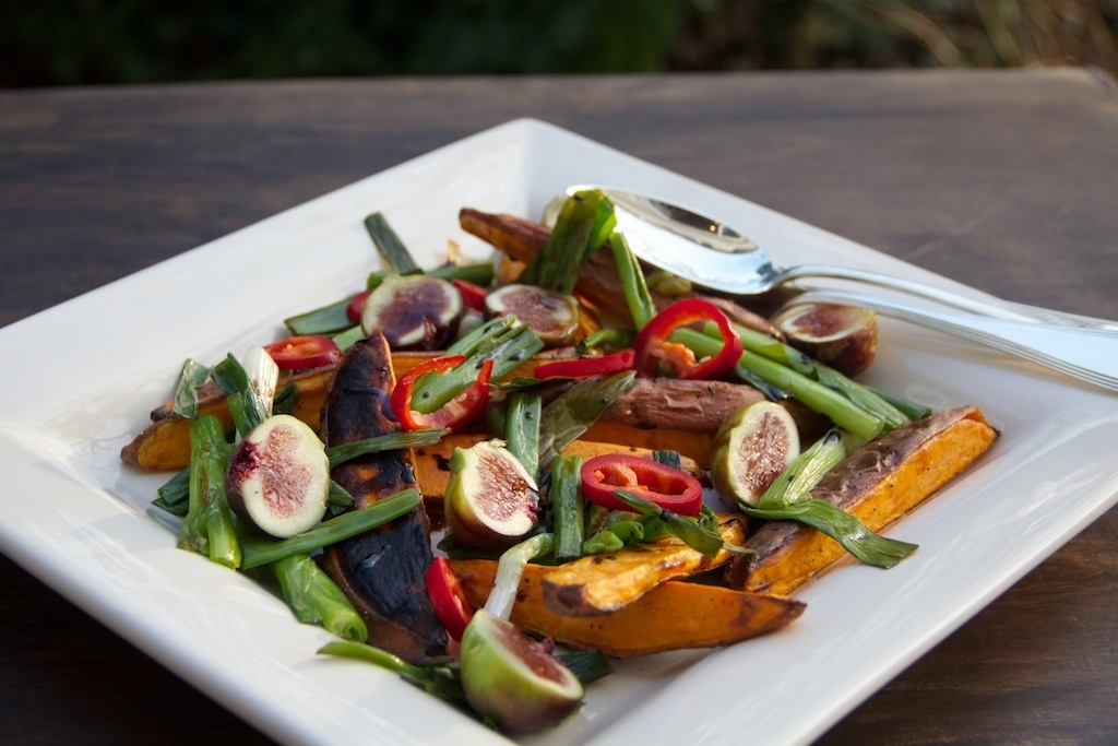 Sweet Potato Salad with figs
