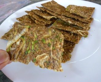 Crispy Raw Vegan And Gluten Free Zucchini Onion Crackers - High In Omega-3 Fatty Acid