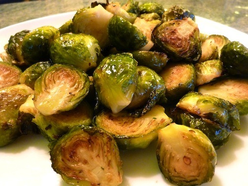 Vegan Roasted Brussels Sprouts With Crushed Red Chili Flakes - A Perfect Thanksgiving Side DIsh