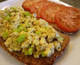 Eggless Egg Salad Sandwich - A Delicious, Low Calorie Vegan Lunch