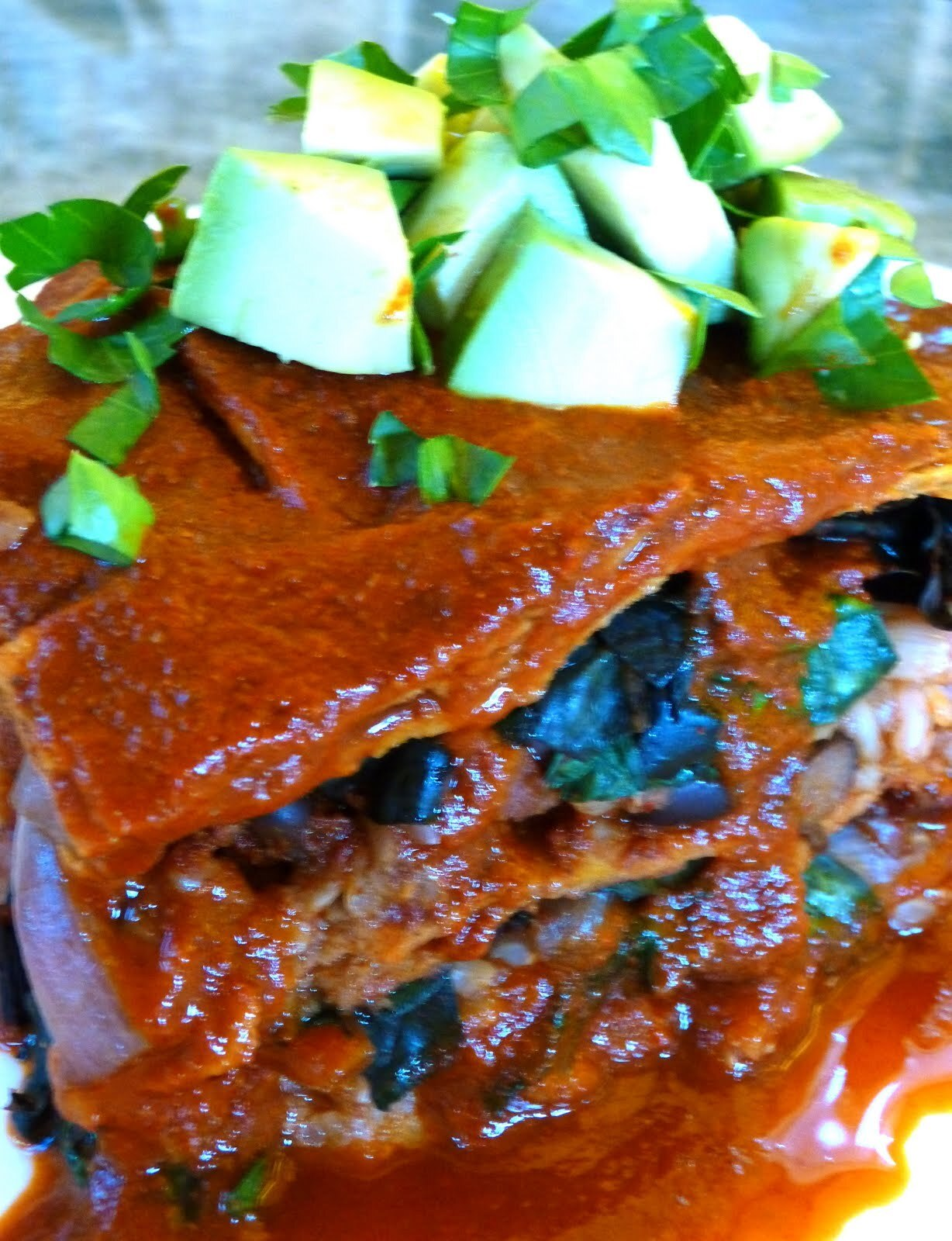 Celebrate World Vegetarian Day With A Delicious Vegan Swiss Chard And Black Bean Enchilada Casserole