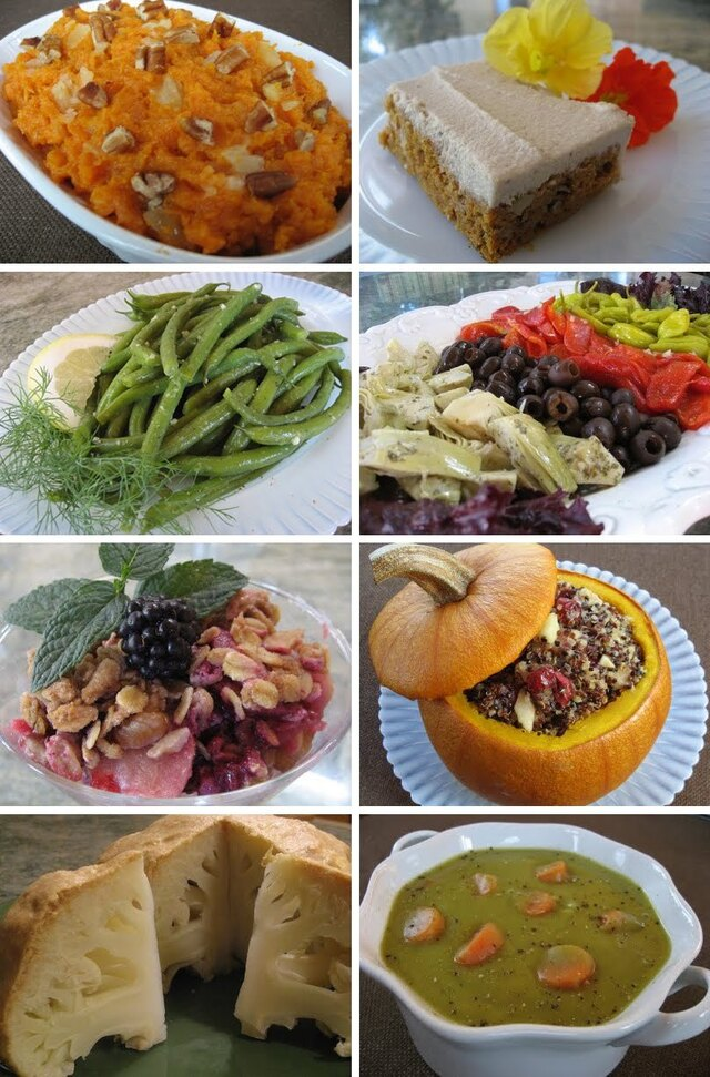 Healthy Vegan and Vegetarian Thanksgiving Menu and Recipes