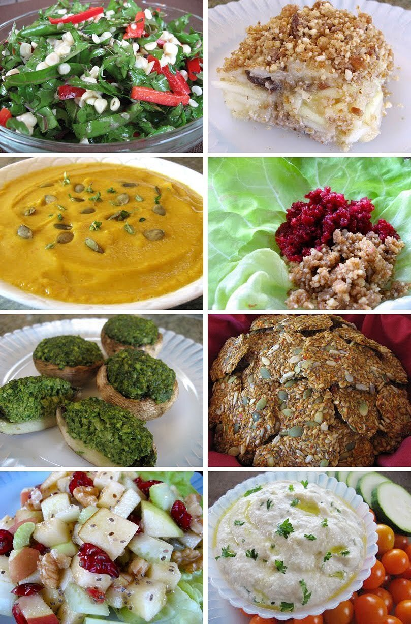 A Complete Raw Vegan Thanksgiving or Winter Holiday Menu - From Raw Appetizers to Dessert