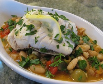 Vaughn's Halibut over Provencal Bean Stew—The Risks and Rewards of Eating Seafood