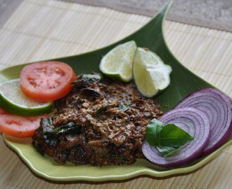 Meen Varathu Paalupizhinjathu (Fish fry in a thick coconut  gravy)