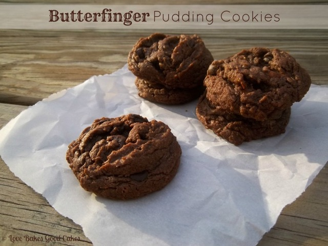 Butterfinger Pudding Cookies :: Guest Post