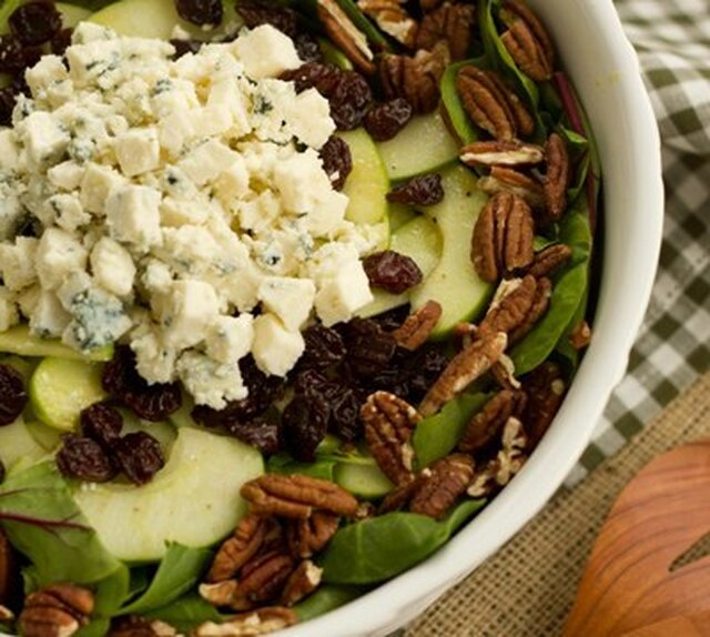 Winter Salad with Apples, Pecans, Blue Cheese and Dried Cherries~