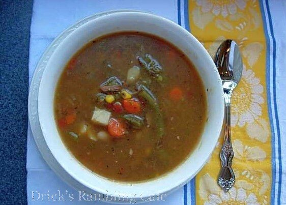 Vegetable Soup with Beef Shank Stock