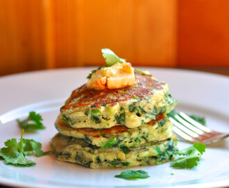 Green Pancakes with Lime Butter