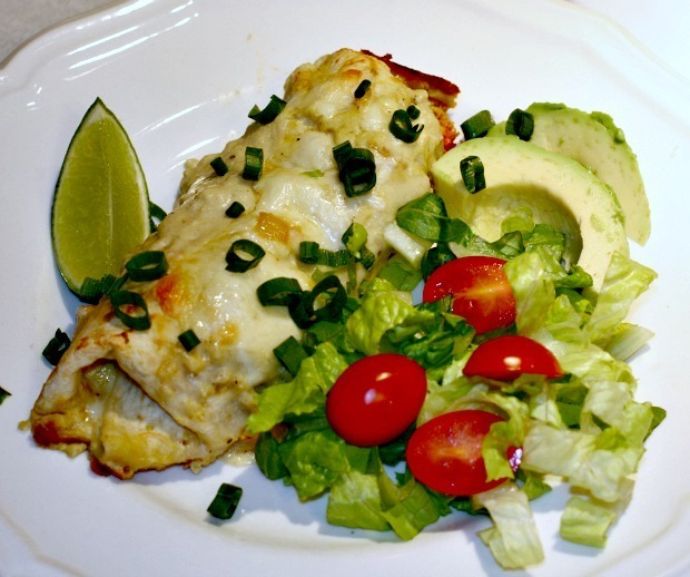 Chicken Enchiladas with Green Chile Sauce