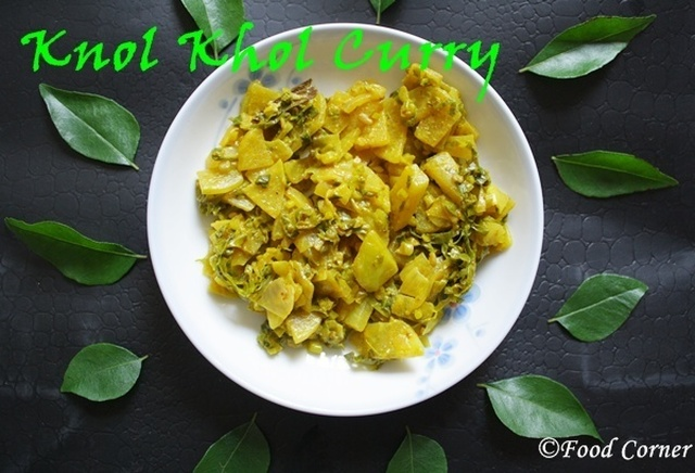 Sri Lankan Knol Khol Curry (Mild Spicy)