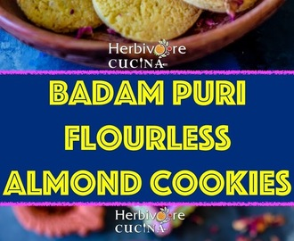 Badam Puri | Flourless Almond Cookies