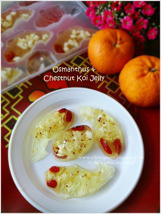 Osmanthus And Chestnut Koi Jelly Plus Osmanthus Flower Giveaways
