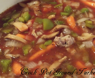 Crock Pot Ground Turkey Soup
