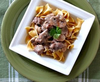 Slow Cooker Freezer Meal Idea:  Beef Stroganoff