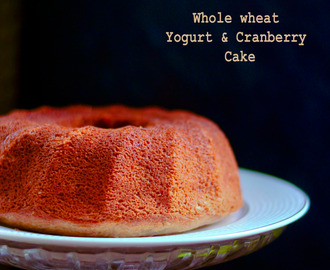 Whoel-wheat Yogurt Cranberries Cake