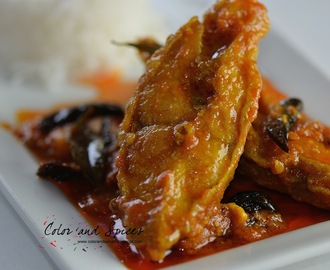 Meen-a-curry...Fish with curry leaves