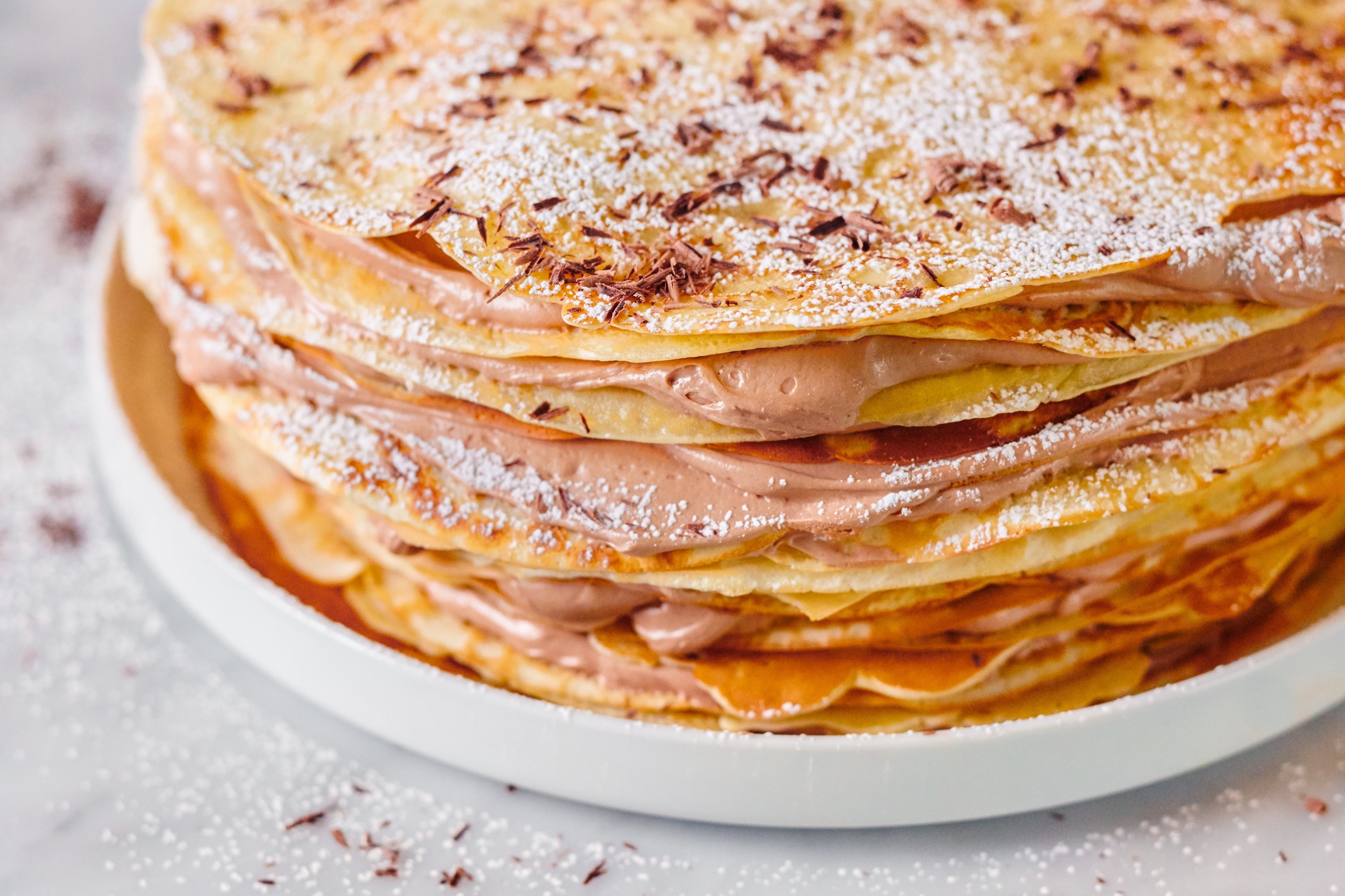 How To Make Nutella Crêpe Cake