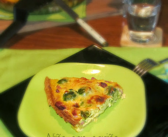 QUICHE DE COLES DE BRUSELAS Y BACON