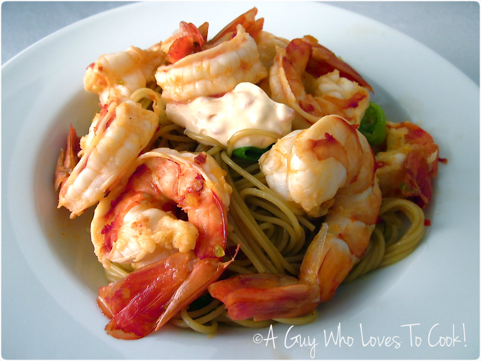 Fierce Garlic Prawns with Red Pepper Aioli