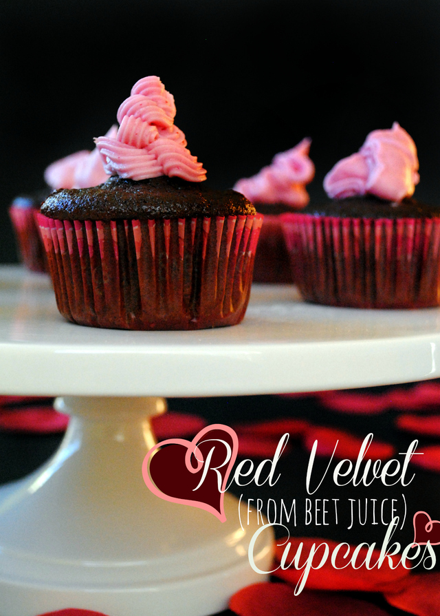Red Velvet (from beet juice) Cupcakes