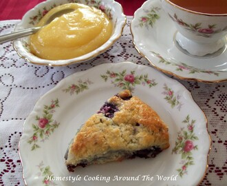 Blueberry Scones... a tea party... and reminiscing about Victoria magazine