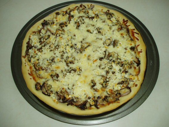 Goat Cheese Pizza with Caramelized Onions and Mushrooms (12-inch)