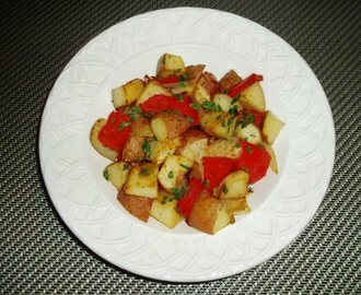 Roasted Potatoes, Bell Peppers, and Onions