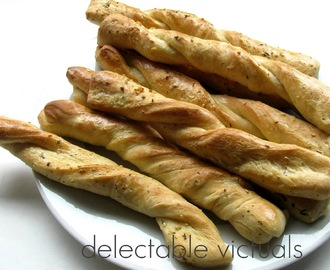 Easy Home-made Garlic Herb Breadsticks