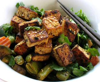 Tamarind Sesame Flavored Tofu with Vegetables