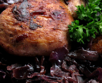 Chicken and Red Cabbage