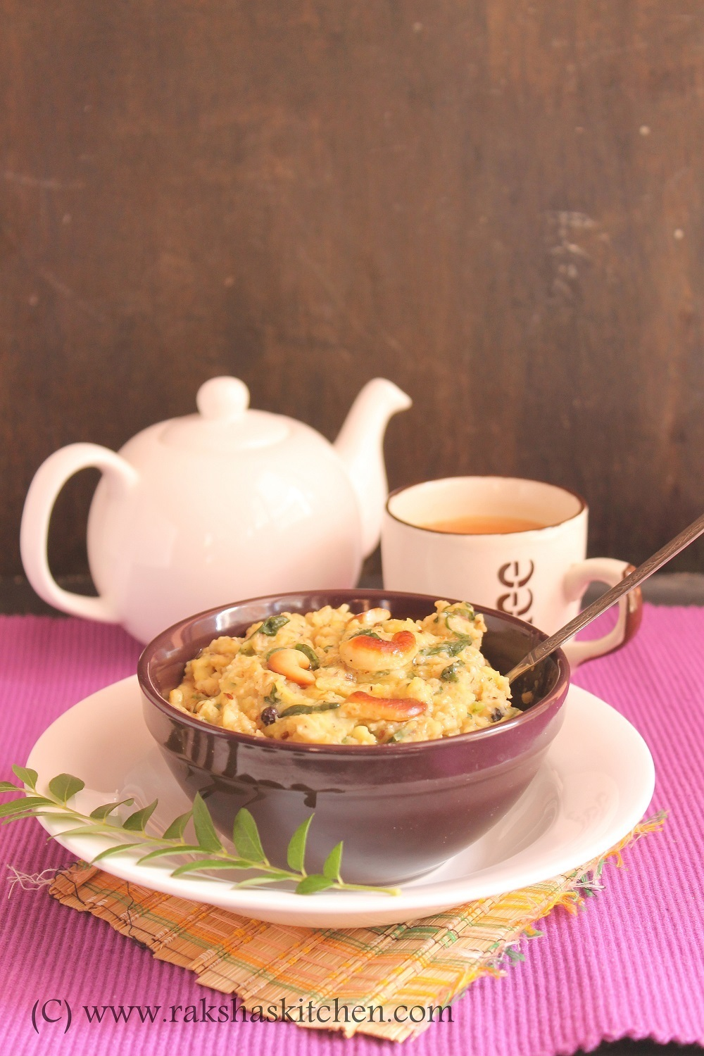 Oats And Spinach Pongal