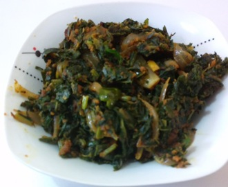 Moolangi soppina palya (Radish Leaves Curry )