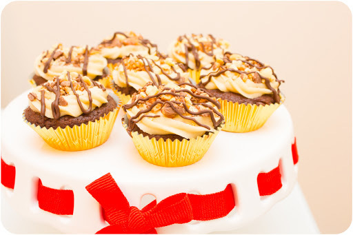 New Job Snickers Cupcakes!