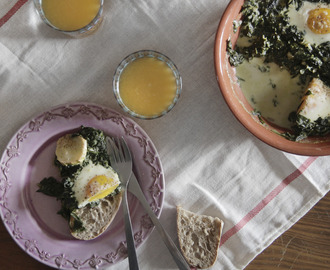Espinafres com Ovo {Spinach and Eggs}