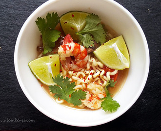 Sopa thai de noodles com marisco – 15minutos (Tom Yum)