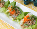 Asian Chicken & Rice Noodle Lettuce Wraps