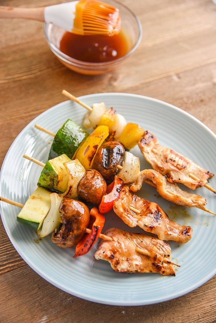 Grilled Teriyaki Chicken Kabobs with Veggies