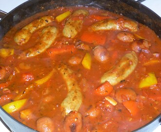 Sausage, Bean, Pepper and Tomato Casserole Recipe